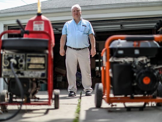 Charles Semchena. Jr., 65, of Royal Oak, purchased a gas-powered generator for himself and two for his 95-year-old mother, Genieve, after experiencing multiple DTE power outages.