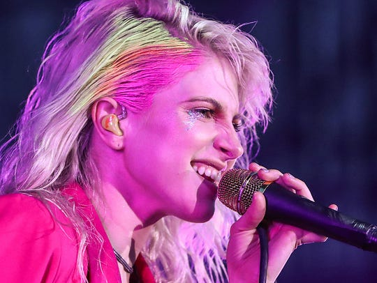 Paramore lead singer Hayley Williams performs with