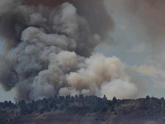 Klamathon Fire near the California-Oregon border