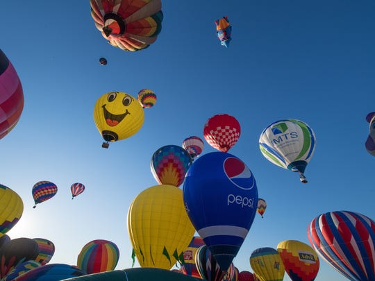 Mass balloons in the sky