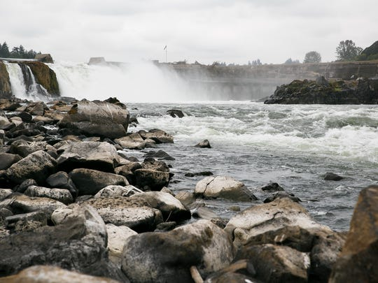 Willamette Falls in Oregon was ceded to the United States in an 1855 treaty.