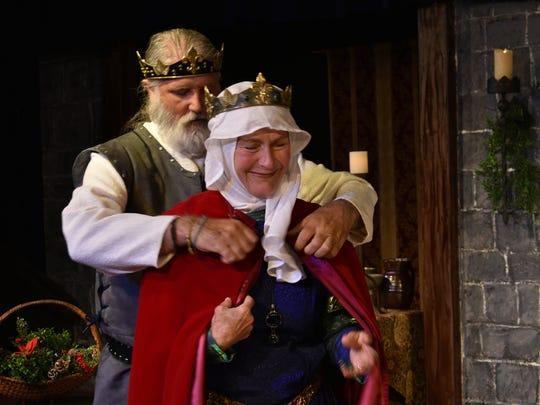 Henry II (Liam Sanchez) helps his wife and prisoner,