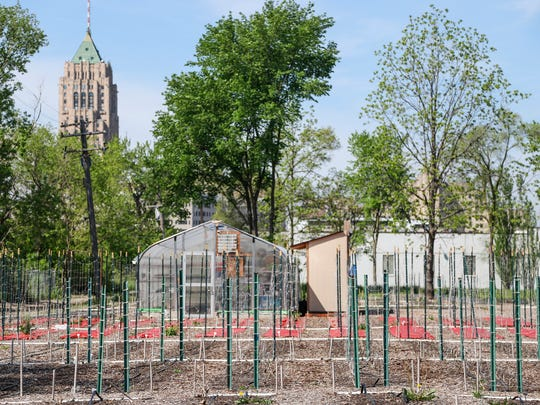 The Michigan Urban Farming Initiative in May in Detroit. (Photo taken May 17, 2018)
