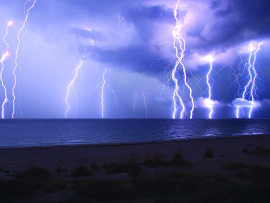 Florida has one of the greatest amounts of lightning-days per year, with an average of 70 to 100 days annually.