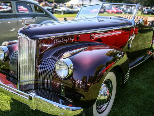 A 1941 Packard Custom  Super-Eight 180 Convertible Victoria was one of the attractions at last year's Concours d'Elegance.