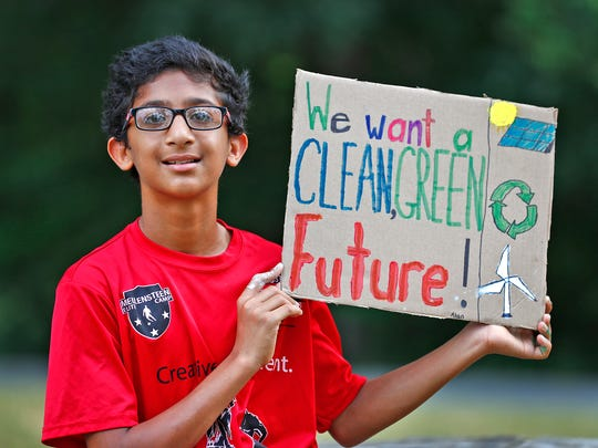 Ahan Bhattacharyya, 12, has developed a plan trying to get rid of straws or to get biodegradable straws in local restaurants. Plastic straws are harmful to the environment.  He went to five local restaurants in Carmel to talk to managers to go to straws used only if customers asked for them.  Also, he wrote an email to McDonalds to talk to them about the negative effect of plastic straws on the environment, and he did a petition for them to go to biodegradable straws.