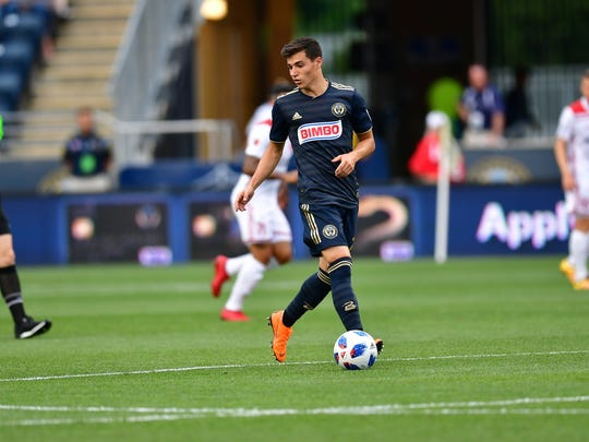 Newark's Anthony Fontana scored the Union's first goal this season as a rookie central midfielder.