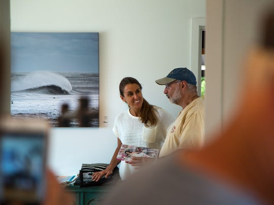 Ann Coen at her gallery in Surf City.