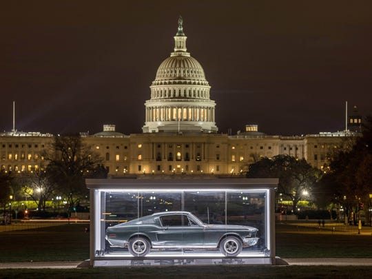 """The 1968 Ford Mustang GT made famous by the Warner Bros. cult film """"Bullitt"""" will be displayed through April 23, 2018on theNational Mall in Washington, D.C."""