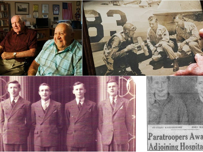 Brothers Walter Kaslikowski, 95, John, 97, Stanley