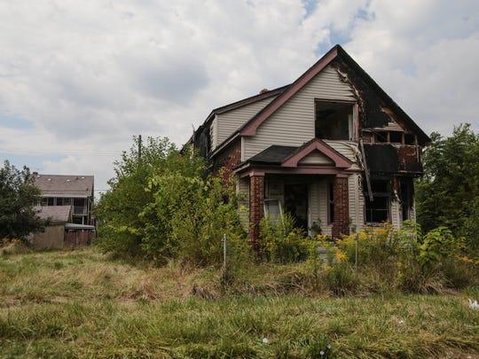 An abandoned house near Fischer and Warren in Detroit