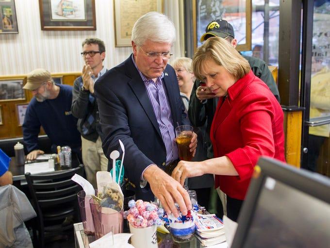 Democratic gubernatorial candidate Jack Hatch and running