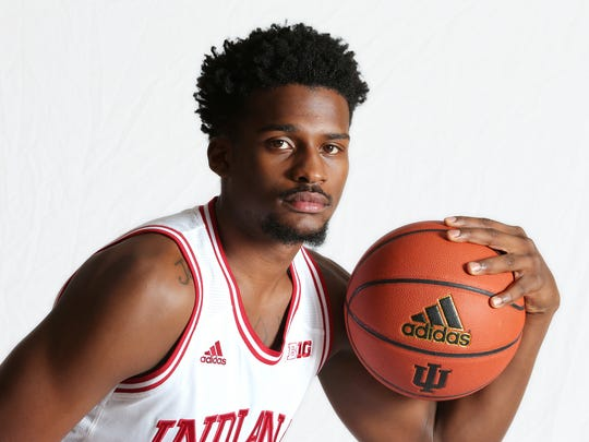 Indiana University basketball player and sophomore Stanford Robinson during Media Day on Thursday, September 9, 2014.