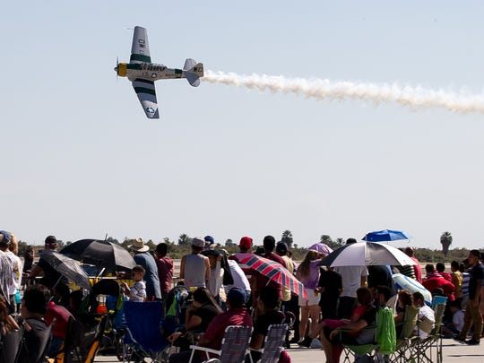 The public attend the Jacqueline Cochran Air Show held