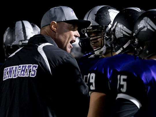Shadow Hills' head coach Ron Shipley (left) has been a major influence on his son, Jake, who is a major Division I football recruit.