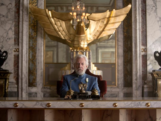 """Donald Sutherland stars as President Snow in """"The Hunger"""