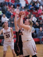Courtney Pifher and the Buckettes have an N10-title deciding game Tuesday against Carey.
