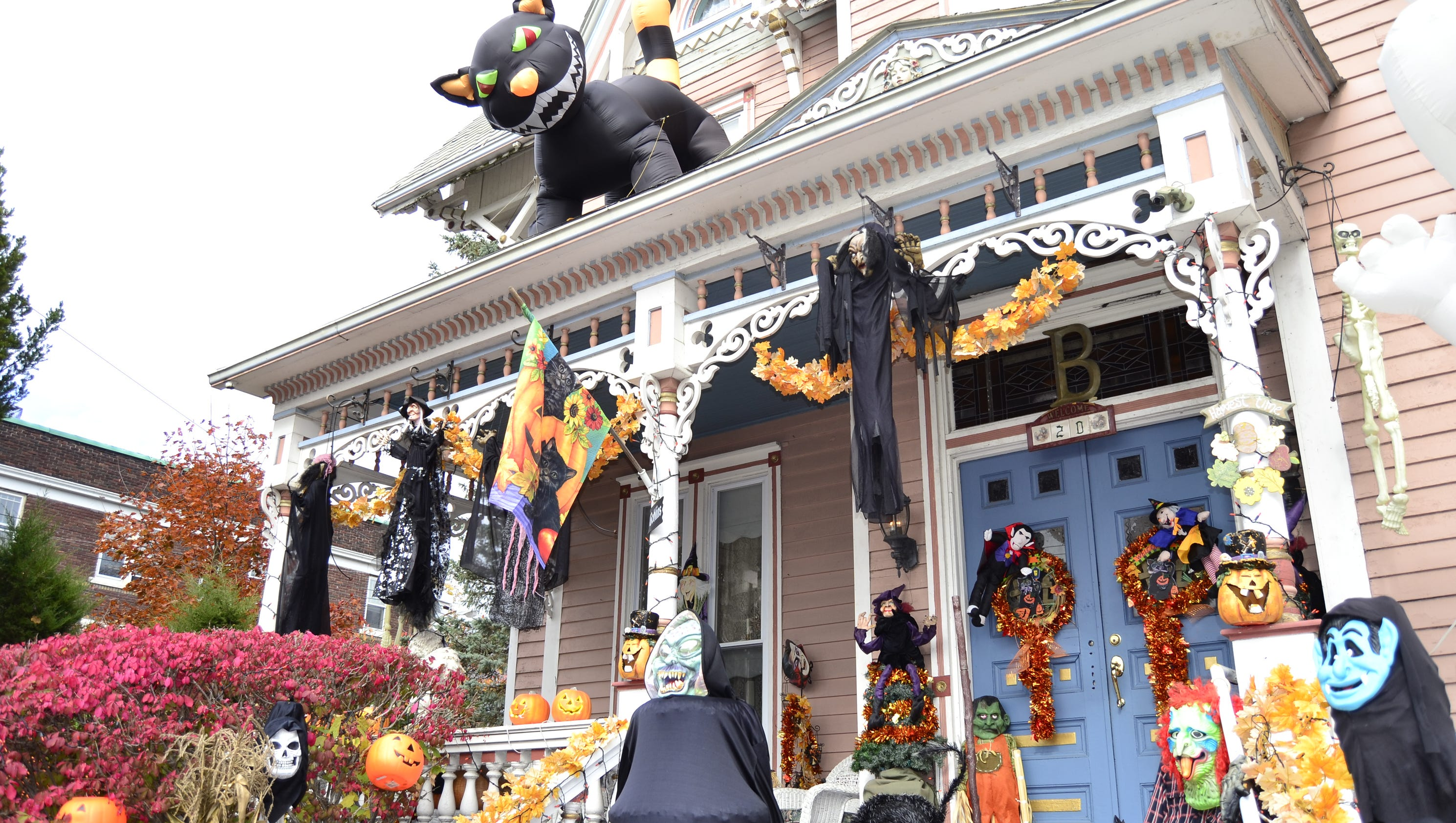 local decorations cast a spell of halloween spirit