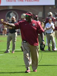 FSU interim coach Odell Haggins picked up his first