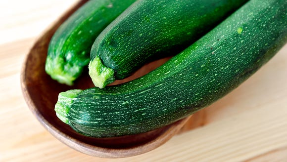 Zucchini, part of a CSA share from Prescott's Patch.