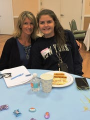 Dinner with your Daughter co-chair Gigi Suntum, left, with her own daughter, Olivia.