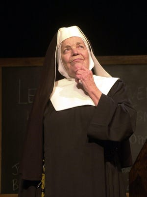 Carmen Decker as Sister Mary Ingnatius in a Boarshead play.