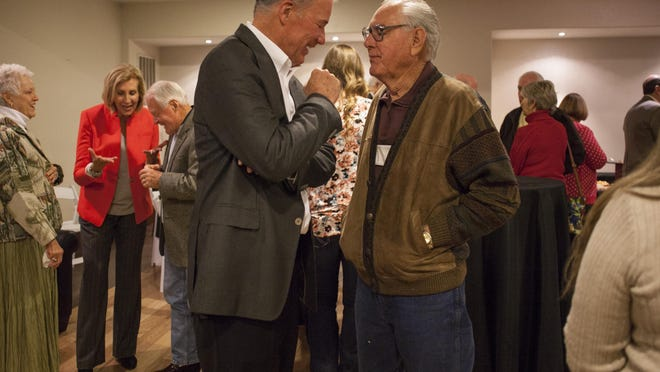 SkyWest CEO Jerry Atkin celebrates his retirement with friends and family at The Falls Event Center Friday, Dec. 18, 2015.