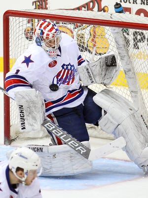 Amerks goalie Andrey Makarov was recalled by the Sabres after Chad Johnson was injured in the morning.