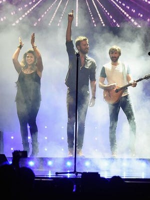 Lady Antebellum members Hillary Scott, Charles Kelley and Dave Haywood played Bridgestone Arena Sept. 11, 2015.