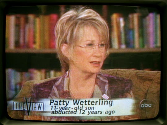 "Patty Wetterling appeared on ""The View"" on March 5, 2001, to renew her plea for answers in the abduction of her son Jacob."