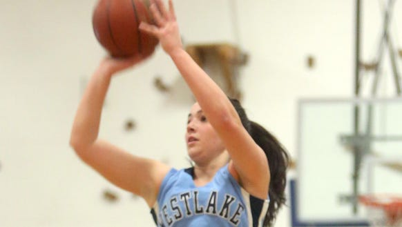 Westlake's Natalie Alfieri scored her 1000th point
