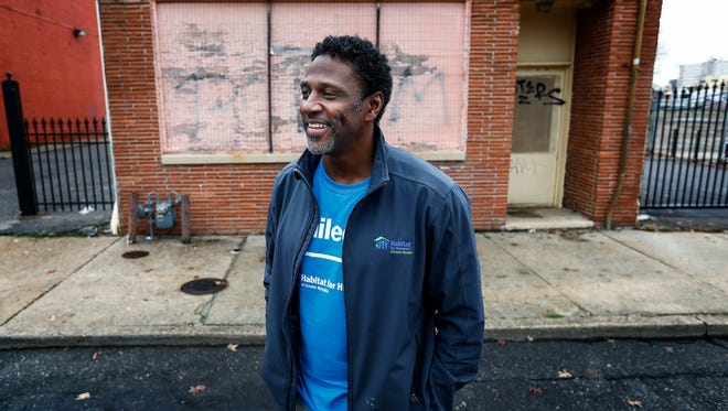 Entertainer Larry Springfield stands outside 392 Beale Street, where he will open the SugaShack soul music club on the east end of the street.