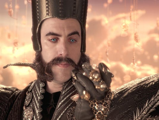 "Sacha Baron Cohen portrays Time in ""Alice Through The Looking Glass."""