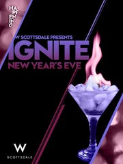 The W Scottsdale's New Year's Eve Party, Ignite, has a fire and ice theme.