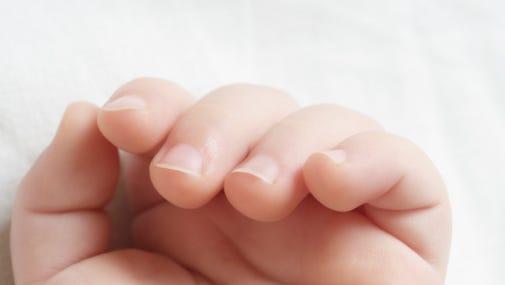 Baby's hand, file photo.