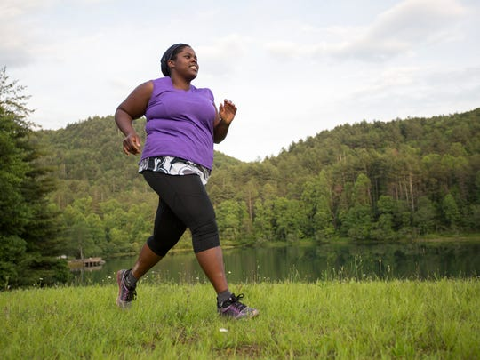 Mirna Valerio runs around Blackrock Lake, Georgia. Valerio is a prejudice-busting, body-positive runner and outdoor enthusiast who was just named a National Geographic Adventurer of the Year.