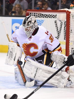 Karri Ramo notched his third career save in a 2-0 win over the Sharks.