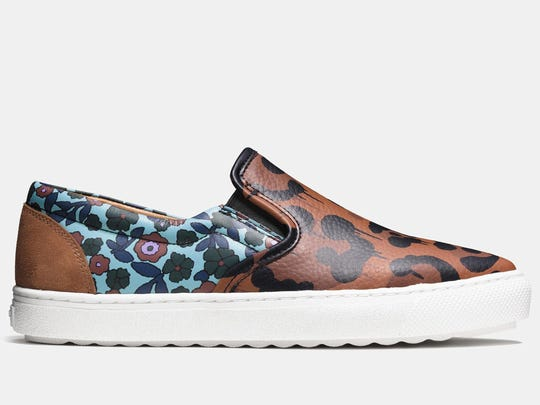 Flowers tame Coach's wild beast sneaker, $295, Coach stores nationwide and coach.com (Coach)