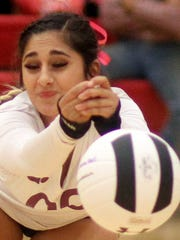 "Senior Lady Cat Libero Julyssa ""Boo"" Ortiz led the Deming back court with 21 digs during Tuesday's District 3-5A match loss to the visiting Santa Teresa Desert Warriors."
