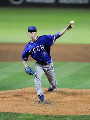 Louisiana Tech pitcher Phillip Diehl struck out nine batters against Cal State Fullerton in the Starkville Regional at Mississippi State.