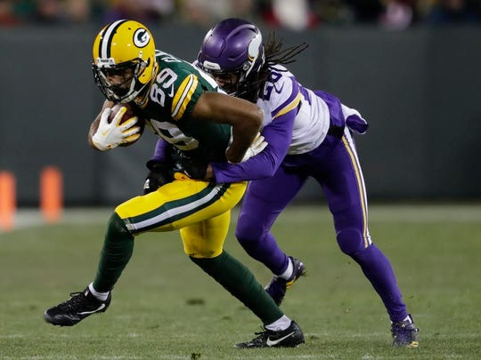 Green Bay Packers wide receiver Michael Clark (89)