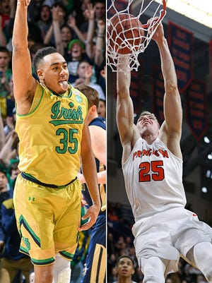 Notre Dame's Bonzie Colson and Princeton's Steven Cook are the key players for their respective teams.