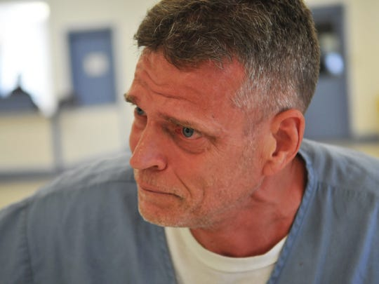 Jeffrey Abramowski speaks to FLORIDA TODAY during an interview at the Martin County Correctional Institution.