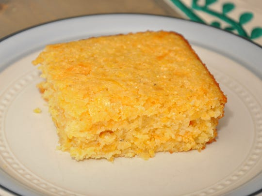 Pineapple-Cheddar Cornbread is both sweet and moist.