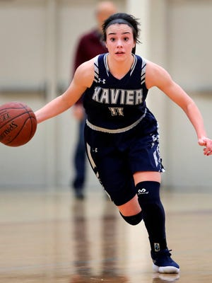 Xavier's makes her way down the court during a game earlier this season.