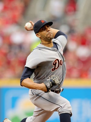 Tigers pitcher David Price throws a pitch during the game against the Reds Wednesday in Cincinnati.