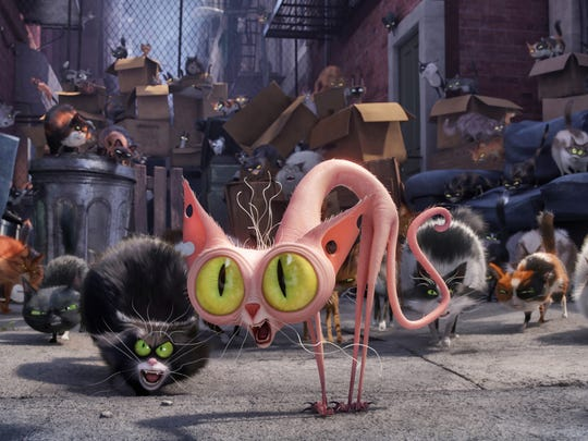 Ozone (center, voiced by Steve Coogan) is an alley