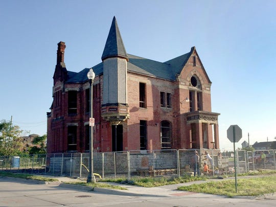 The Ransom Gillis House in the historic neighborhood of Brush Park in Detroit, Tuesday, July 21, 2015. The house is currently being rehabbed.