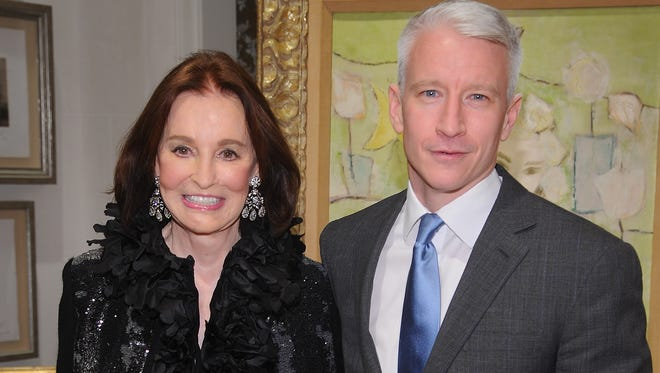 Gloria Vanderbilt and Anderson Cooper in November  2010 in New York City