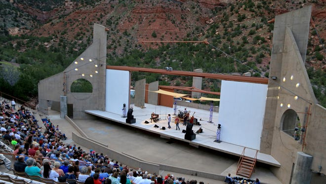 The O.C. Tanner Amphitheater in Springdale will host the Country Jam on June 11.